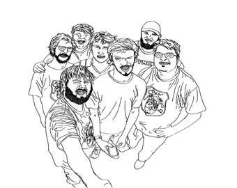 Illustration print- TigerClaw Paintball Club
