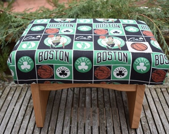 Handmade Footstool - Boston Sports