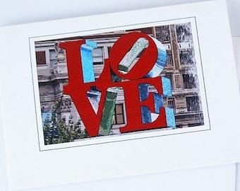 Love Sign Valentines Cards Philadelphia Love Cards Love Park Blank Cards Photo Cards Greeting Card Love Cards Photo Card Red And White Cards