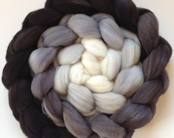 Hand Dyed  roving for spinning or felting Silverback 3.5ozs Pre-Order Choose your fiber