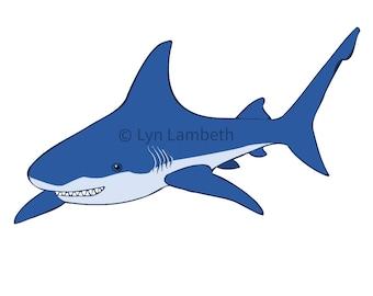 Cute shark clipart | Etsy