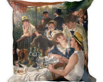 Pierre-Auguste Renoir, Luncheon of the Boating Party - Square Pillow