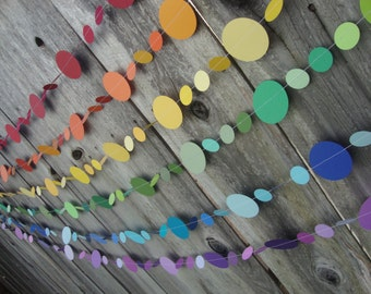 Rainbow Party Garlands Set of 6 6ft. Strands