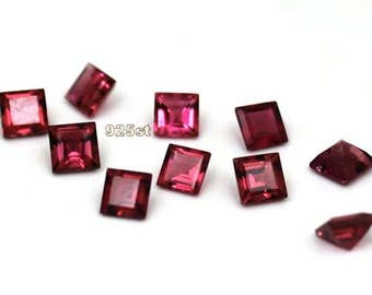 4mm Pink Tourmaline Faceted Square - 1 piece