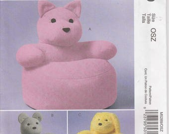 Animal Chair Pattern Toddler Bear Chair Cat Dog  Uncut McCalls 5289