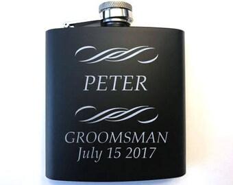 Personalized Groomsman Flask - Custom Groomsmen Flask - Groomsman Gift - Groomsmen Gift - Gift for Groomsmen - Groomsmen Gifts