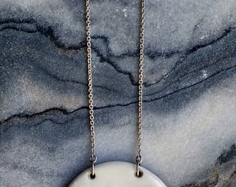 Titania Necklace - Porcelain and sterling silver