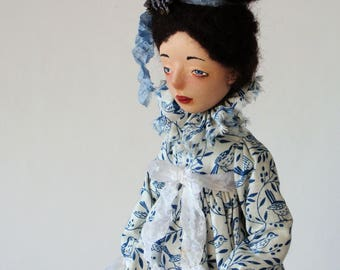 "Art doll, OOAK, handmade doll ""Eliza and the birds"""