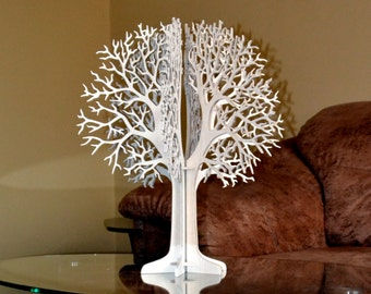 Wishing Tree guest book, 3D wooden tree, wedding decor, birthday, wedding thanks tags