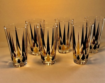 Set of 6! Vintage 1960s MARTINI BAR Glasses