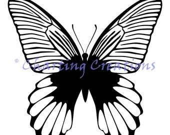 Butterfly Silhouette 1 Counted Cross Stitch Pattern