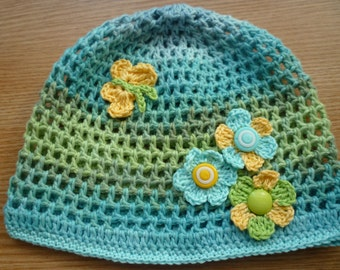 Molty summer hat, summer baby hat, girl hat, summer girl hat