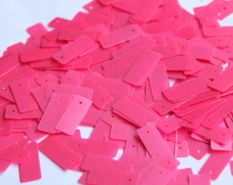 75 Pink Rectangle Sequins/KBRGS264