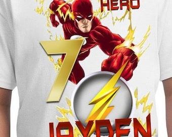 Flash Birthday Shirt/Flash Shirt/Flash Party/Flash/Flash Birthday/Flash Stickers/Flash Invitations/Flash Cupcake Toppers/Flash SVG/Superman