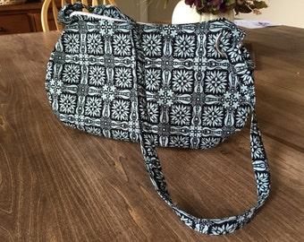 Blue Patterned Shoulder Bag