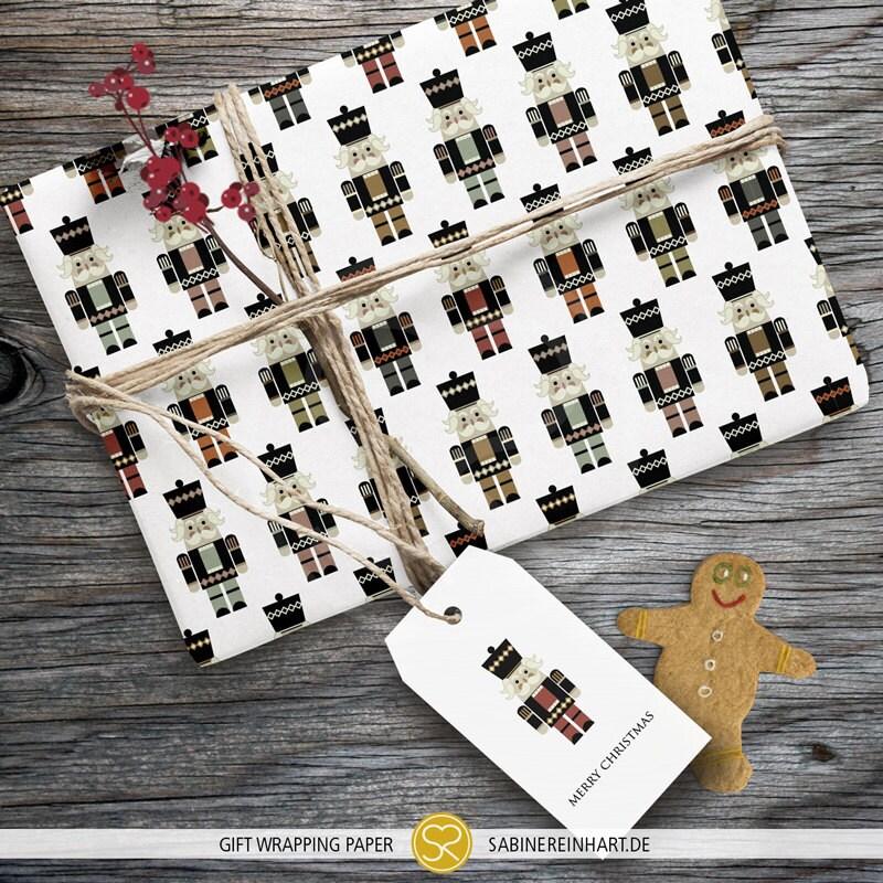 Nussknacker Geschenkpapier Weihnachten Geschenk zu verpacken