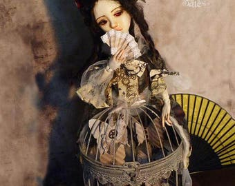Athénaîs, handmade doll, unique piece