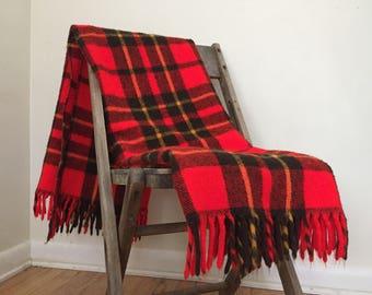 Vintage Faribo Faribault plaid wool blanket