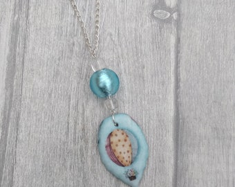 Blue Hot Air Balloon Statement Necklace