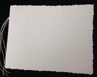 "Hand-Bound, Blank Bristol Vellum Paper Journal 4""x 6"" with Cover"