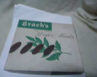 Vintage Brach's Chocolate Covered Wafer Mints One Pound Box, collectable