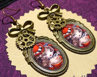Mad Moxxi earrings // Borderlands fanart // video game // steampunk