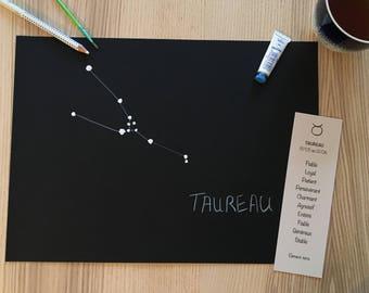 Christmas gift - Constellation Zodiac Taurus - free shipping - handmade