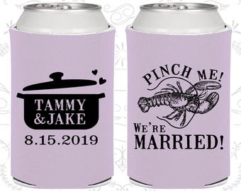 Lilac Wedding, Lilac Can Coolers, Lilac Wedding Favors, Lilac Wedding Gift, Lilac Wedding Decorations (334)