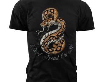 Black Ink Men's Don't Tread on Me T-Shirt (MT664)