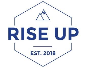 PreMade Logo | Business Logo Design | Logo Design | Customizable | Rise Up