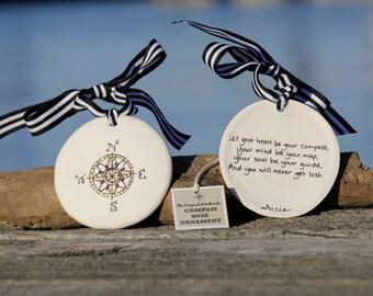 Coastal Ornament, The Original Compass Rose Ornament and Keepsake