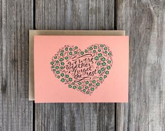 Walt Whitman Valentine's Day Card, Walt Whitman Quote, Valentines Day Card
