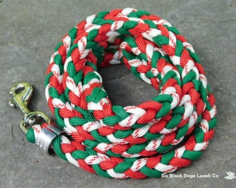 4' Green/Red/Candy Cane Snap Bolt Leash