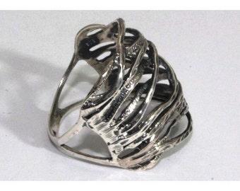 silver ring, hand made filigree Ring big ring, silver rings