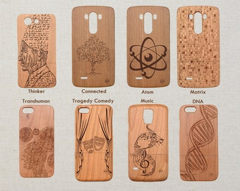 My Custom Science / Art Design Wood Phone Case iPhone 5 5s 5C 6 6s and 6 6s plus 7 7 plus X 8