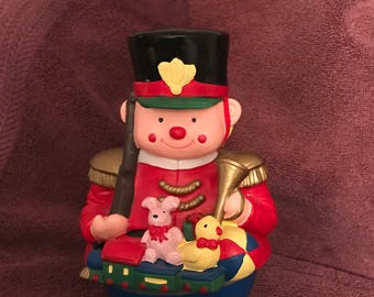 Vintage--Roly Poly--Musical Toy Soldier--Plays Santa Claus Is Coming To Town