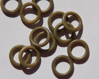 Vintage Avocado Green Lucite Rings Connectors bds591B