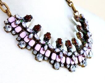 Statement necklace, Crystal necklace, Gemstone necklace, Bridal necklace, Wedding necklace - Elizabeth