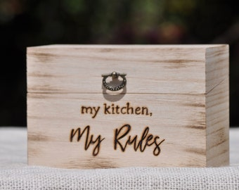 Personalized Recipe Box -Address Box-Gift Box