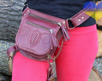 Leather Fanny Bag, Leather Hip Pouch, Hip Bag, Belt Bag, Utility Belt, Bum Bag, Waist Bag, Leather Belt Bag, Hip Belt, Leather Utility Belt