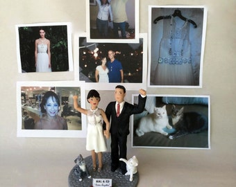Cake Toppers Weddings of Bride and Groom from your Photos