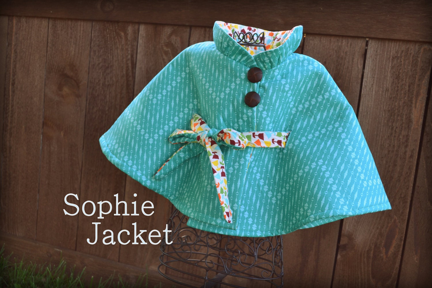 Pdf sewing pattern girl jacket pattern kid clothing zoom jeuxipadfo Images