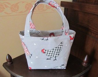 Small child basket bag (pattern: chickens and Rooster)