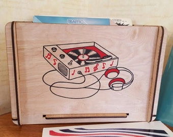 Vinyl record Storage Crate Great Gift for Niece, Sister, Girlfriend, Mom or Secret Santa and Gift Exchange