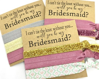 Will you be my Bridesmaid | Maid of Honor |Bridesmaid Proposal | Bridesmaid Hair Tie  Favors | To have and to hold your hair back