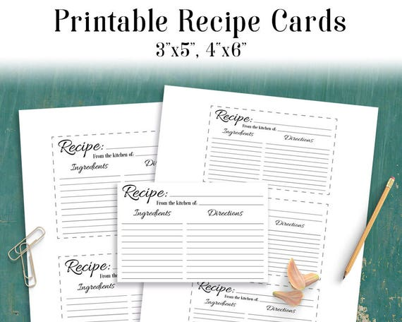 Recipe Card Printable Blank Recipe Card Recipe Template