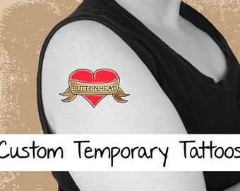 18 Custom Made Temporary Tattoos 2.5 Inch