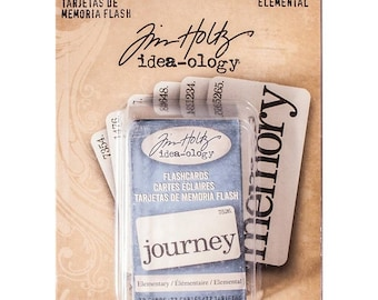 Tim Holtz Idea-ology Flash Cards ELEMENTARY