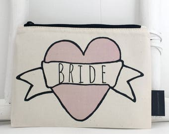 Bride Make-up Bag | Wedding Make-up Bag | Bridal Shower Gift | Engagement Gift