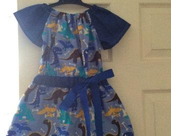 Blue Dinosaur dress